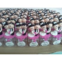 50 Lembrancinhas De Casamento Em Biscuit Na Caixinha