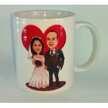 Caneca Casamento Personalizada Madrinha Padrinho