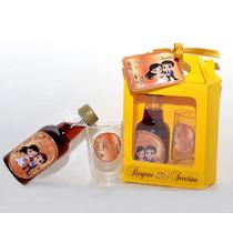 Kit Mini Vinho Com 2 Tacinhas + Caixinha + Laço + Arte