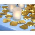 500 Pétalas Rosas Artificiais Seda Dourada