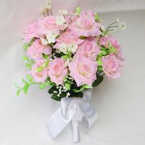 Buquê Bouquet Casamento/noiva Rosas E Cerejeira.