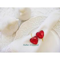 Porta Guardanapo Coração - Casamento*festas Kit 10 Unidades