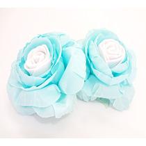 100 Forminhas Para Doces Em Tecido Azul Tiffany