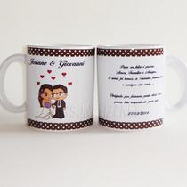 24 Canecas De Porcelana Personalizadas Padrinhos Casamento