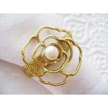 Porta Guardanapo Flor Com Delicada Pérola - Casamento Luxo