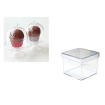 10 - Mini Cupulas + 10 Caixinha 5x5x5 Kit Lembrancinha