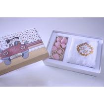 50 Unid Lembrancinha Caixa Decorada Com Toalha E Sabonetes