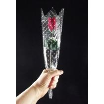 60 Rosas Artificiais Embaladas - Veludo Artificial Embalagem