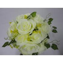 Buque Rosa Branca Bouquet Noiva Casamento Permanente