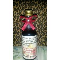 30 Garrafinhas (vidro) De Vinho Personalizada