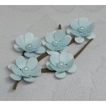 24 Ramos Flores Cerejeira - Origami Lembrancinha Sakura (az)