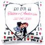 10 Almofadinhas Personalizadas - Casamento-aniversário 15x15