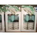 50 Kits Mini Vinho + Mini Cachaça Personalizados Na Caixinha