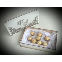 Caixa Convite Casamento 25x16x5cm Mdf Branco Kit 4 Unidades