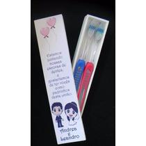 4 Caixas Convite Padrinhos Casamento Escova Dentes - Lindas!