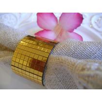 250 Unid. Porta Guardanapos Grega Strass Dourado - Casamento