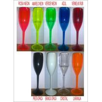 100 Taças Champagne Vinho Acrílico Ps Cristal R$ 2,80 Unid.