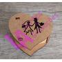 Caixinha Tampa Coração Lembrança Casamento Noivinhos Mdf Crú