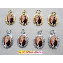 Casamentos,medalhinhas Santo Antônio Dourada E Prata 25 Pçs.