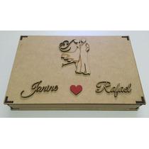 10 Caixas Convite De Casamento Padrinhos Com Coração Pintado