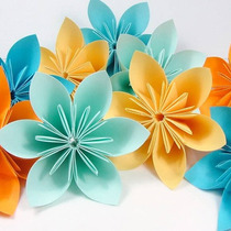 Flor De Origami - 50 Unidades