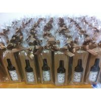 Mini Vinho Personalizado Garrafinha De Vidro 50ml+ Caixinha