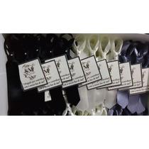 100 Gravatinhas De Cetim Com Cartãozinho+imã+brilhinho
