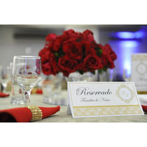 Placa Reservado De Mesa Para Casamento