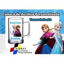 50 Canecas Acrílico Personalizada Frozen 300ml