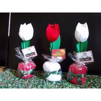 Lembrancinhas Natal Lembrancinha Tulipa Toalhinha C/ 25 Un