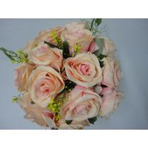 Buque Rosas Rosa Bouquet Noiva Casamento Permanente