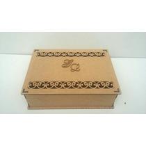 Caixa Convite Casamento Mdf Cru Flores Kit Com 15 Un 5cm Alt