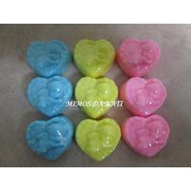 50 Mini Anjinhos No Coração De Sabonete Para Lembrancinhas