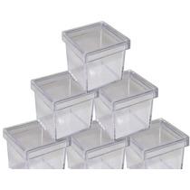 100 Caixinha De Acrilico 4x4 Transparente Lembrancinha