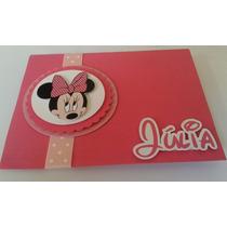 Convite Aniversario Pop Up (3d) Minnie Rosa Scrapbook