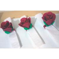 Kit Com 20 Porta Guardanapos De Rosas Em Eva