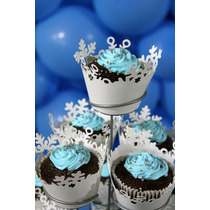 30 Festa Frozen O Filme Elsa Anna Wrapper Saia Cupcakes