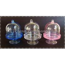 Mini Cúpulas Temos Azul P/ Tema Frozen E Rosa P/ Princesas