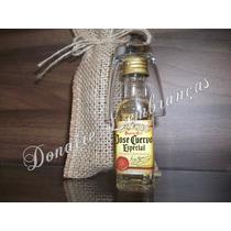 20 Mini Tequilas Com Saquinhos De Palha E Copos