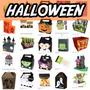Silhouette Halloween Bruxa Fantasma Aboboras Esqueleto Molde
