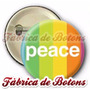 Boton Peace Arco-íris Personalizado 25mm 35mm,45mm,55mm