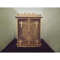 Capela Oratório Nossa Senhora Com Detalhes Em Strass Em Mdf