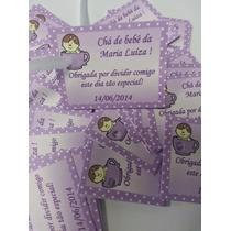 64 Tags Menina Personalizadas Chá De Bebê Maternidade Festa