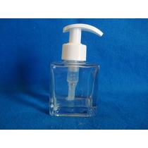 Porta Sabonete Liquido Vidro Cubo 100ml C/válvula Branca