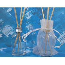 10 Aromatizador Frasco 60 Ml Vidro Cilíndrico Com Organza