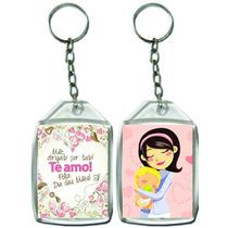 100 Chaveiro Acrílico 3x4 Personalizado Dia Das Mães Escola