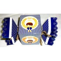 Caixa Personalizada Azul Royal Príncipe- Papel Fotogrático