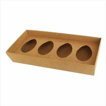 50 Caixas Para 4 Ovos De Colher 50g Ou 100g - Páscoa