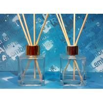 10 Frascos Vidro Aromatizadores Cubo 100 Ml Difusor R28 Luxo