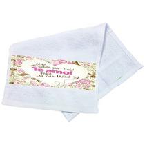 Toalha De Mão Personalizada Dia Das Mães Te Amo